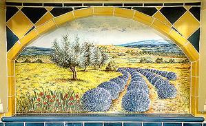 panneaux décoratifs sur pierre de lave