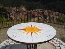 Mobilier urbain en lave émaillée - tourisme - table d'orientation