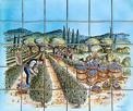 panneau décoratif la vigne réalisé sur carreaux de terre cuite