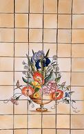 panneau décoratif : bouquet de fleurs