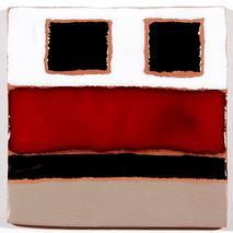 Carreau décoré motif graphix 1 peint à la main - Salernes